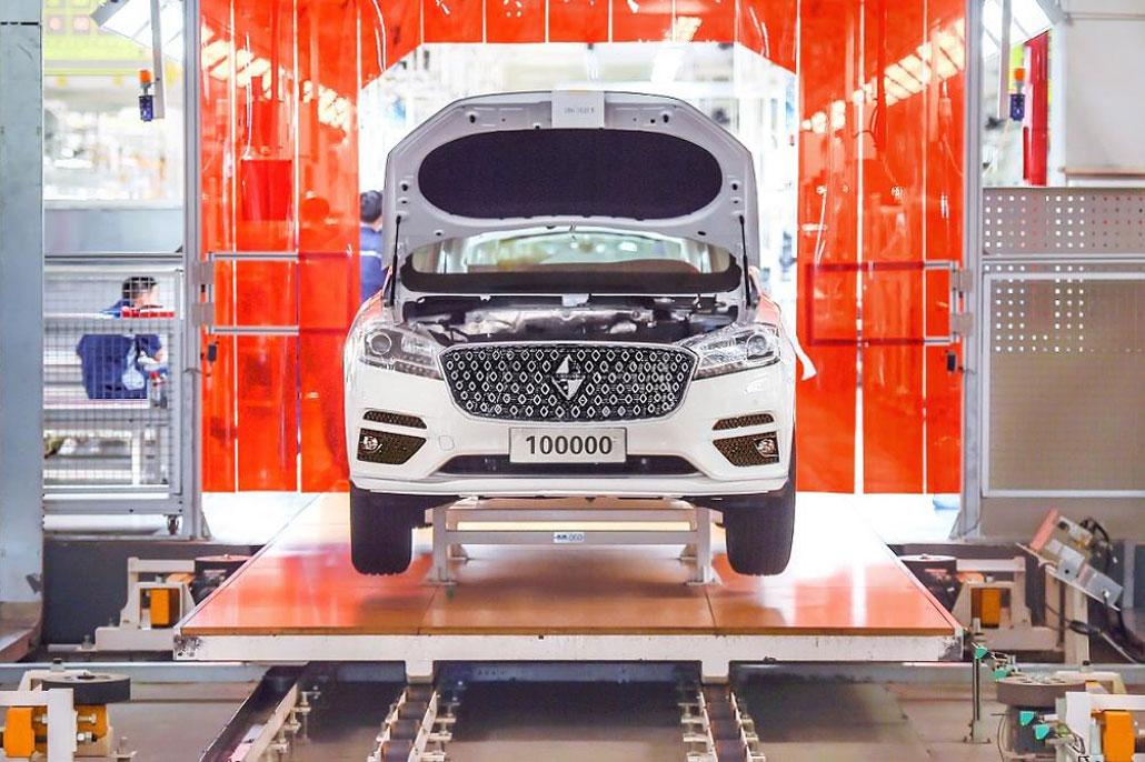 جشن تولید صد هزارمین خودروی جدید بورگوارد - شرکت کیان موتور وانا